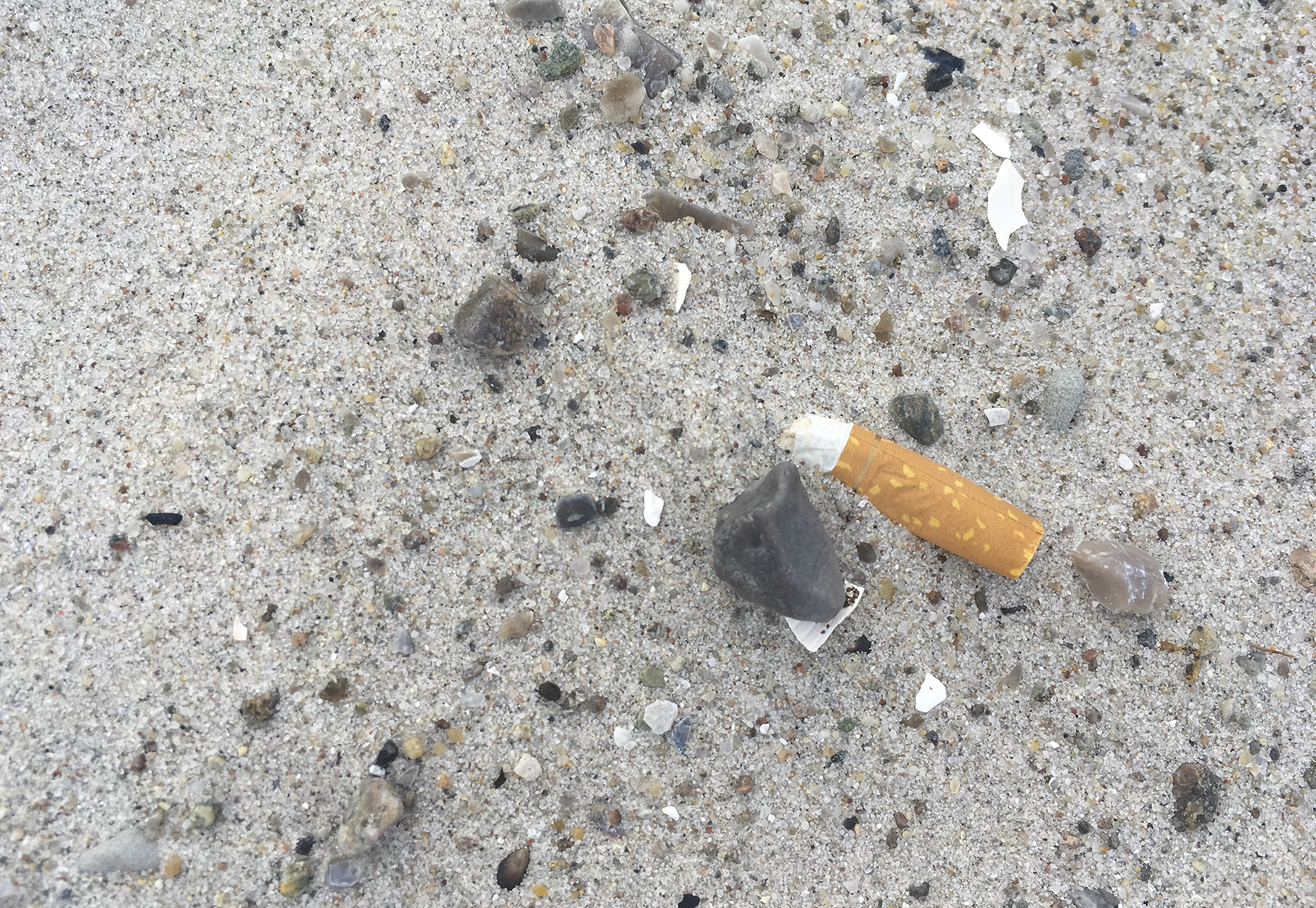 Echt eklig: Zigarettenkippen am Strand