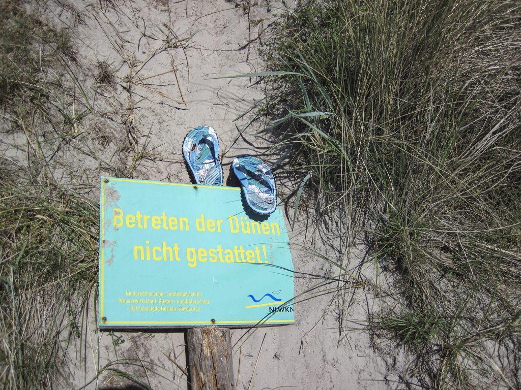 Dünen bitte nicht betreten! (acw)