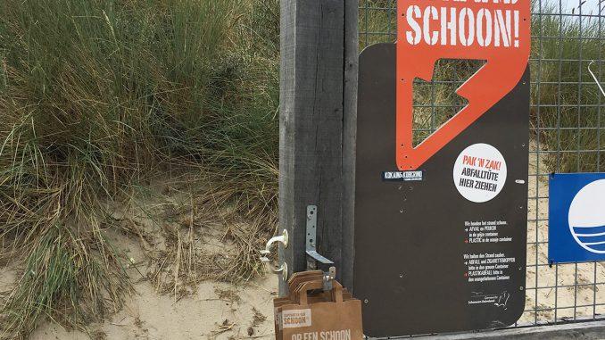 Renesse, Strand schoon, Müll muss mit