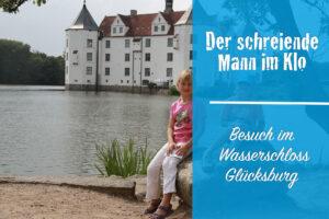 Wasserschloss Glücksburg: Ente und der Mann auf dem Klo