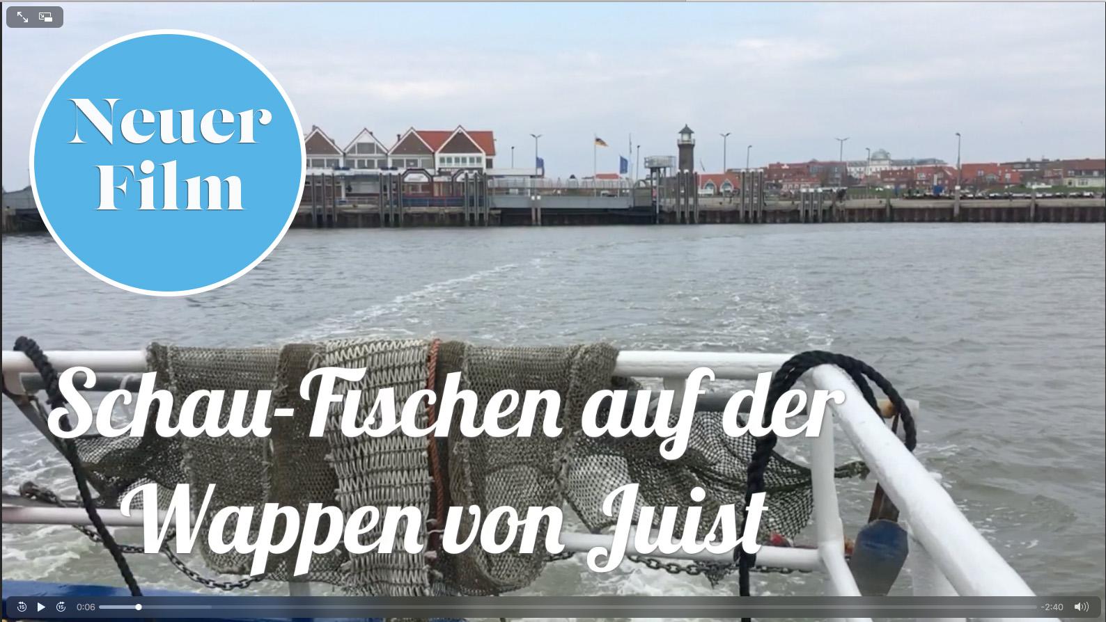"""Video: Schaufischen auf der """"Wappen von Juist"""""""